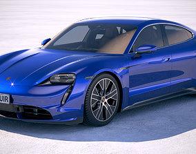 3D model Porsche Taycan Turbo 2020 VRAY