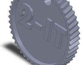 Round To It Keychain 3D print model