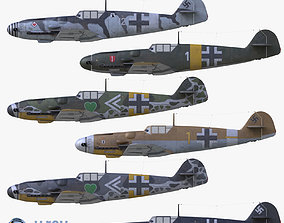 realtime 3D Collection 3D model BF-109 German fighter VRay