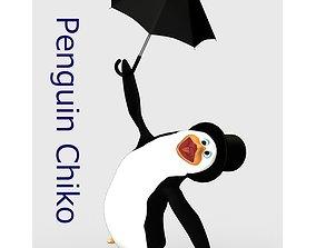 3D Penguin Chiko for Poser