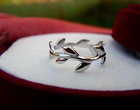 3D printable model Tiffany-styles Verba-ring willow ring