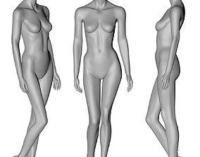 female mannequin stand position 3d print model