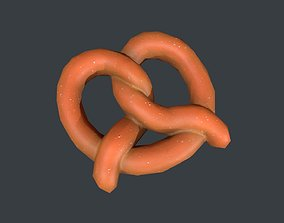 Low Poly Pretzel 3D model