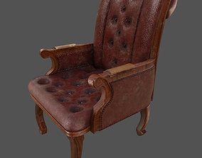 3D Pbr Highpoly vintage english office chair