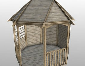 Wood Garden Gazebo pergola 3D model