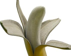 3D model opened banana