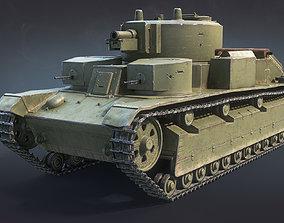 T-28 Medium Tank 3D asset