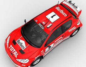 3D model Peugeot 206 WRC rallycar