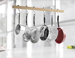 Hanging pot set 3D