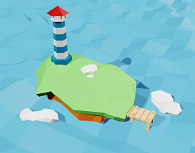 3D model low poly Beacon scene