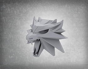 3D printable model Witcher 3 wild hunt wolf pendant