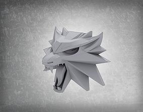 3D printable model Witcher 3 wild hunt wolf pendant