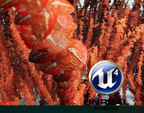 3D asset 4x WaterweedRed Vertex-Animation