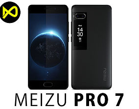 3D model Meizu Pro 7 Black