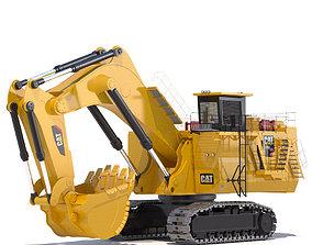Mining Excavator Backhoe 3D model photoreal