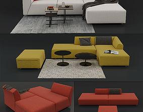 3D model Sofa THEA by MDF Italia