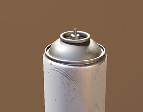 3D model game-ready spray can