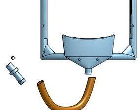 3D print model Dental rubber dam frame with integrated 2