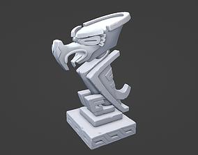Bird statue 3D printable model history