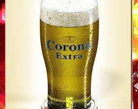 3D Corona Beer Pint Glass