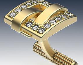 3D printable model jewellery Cufflinks Buckle In Gems