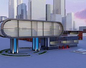 Modern Building 3D wallstreet