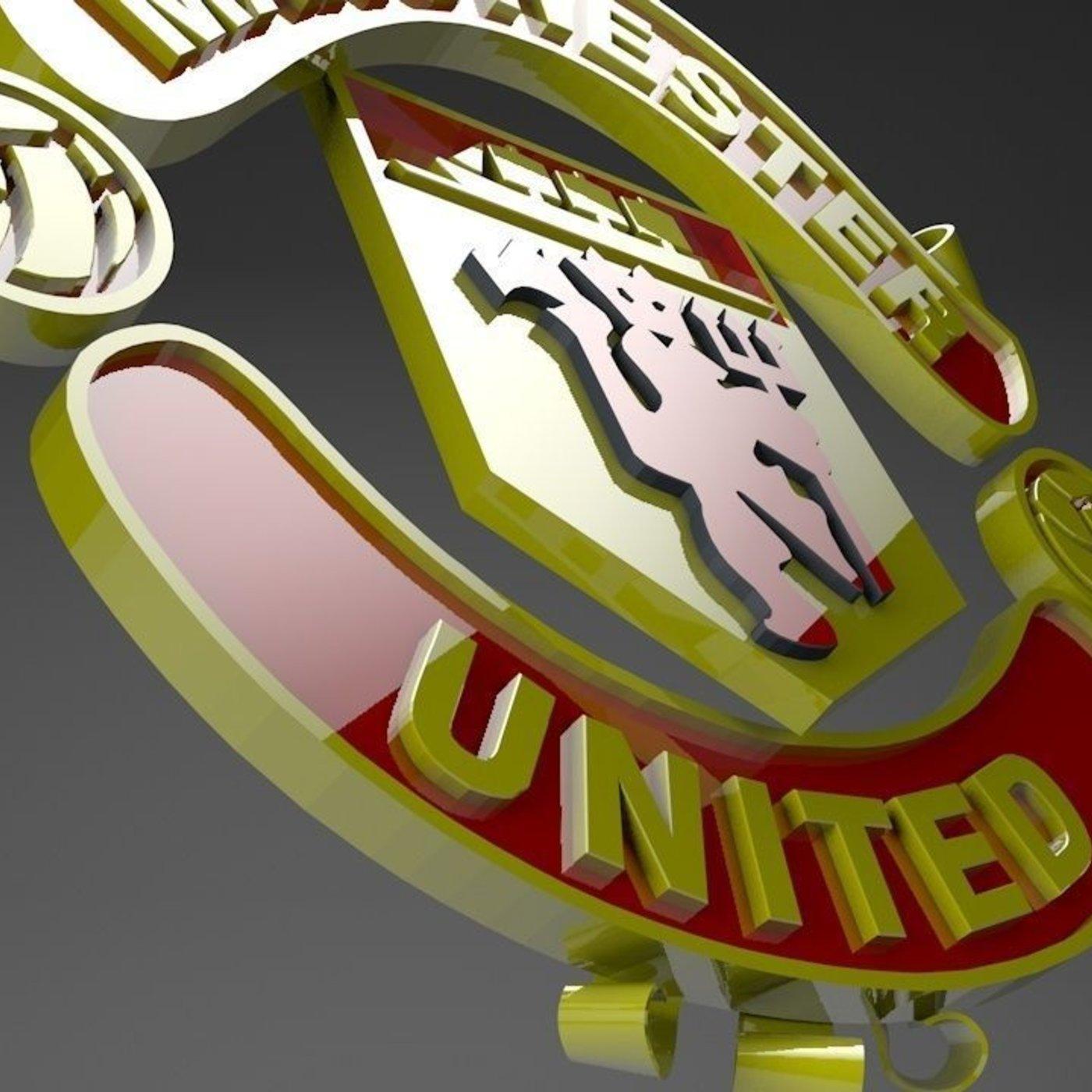 manchester united logo cgtrader manchester united logo cgtrader