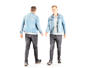 Man casual style 07 3D asset