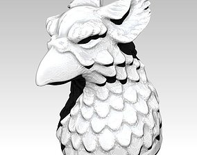 3D print model Gryphone Griffin statue bust head