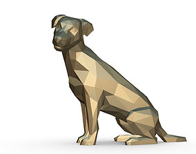 3D print model jack russell terrier low poly
