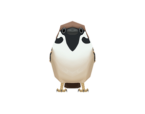 House Sparrow 3D asset