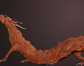 rigged CGI Dragon Rigged 3DSMax low-poly 3D model
