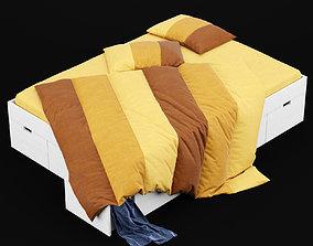 Modern bed 10 3D
