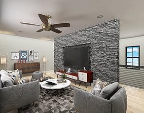 Media room in 3ds Max