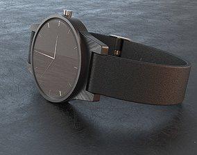wristwatch 3D asset low-poly