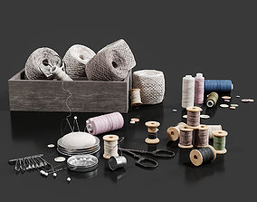 3D model Threads Set