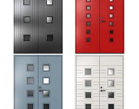 Metal fire doors 3D modern
