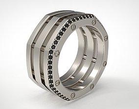 Rockford 2 Row With Diamond Rings in Eu 64 3D print model