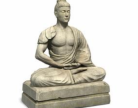 3D asset Meditator Statue