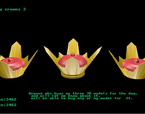 3D model Low poly crowns 3