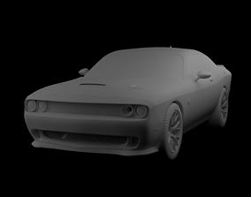 dodge challenger hellcat 3D model