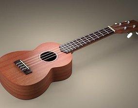 Guitar 3D model game-ready