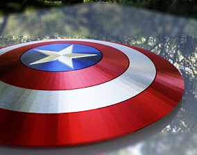3D model Captain America Vibranium Shield
