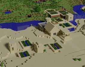Minecraft Village 3D asset