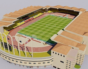 3D asset Stade Louis II - Monaco