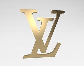 3D asset Louis Vuitton Logo v2 004