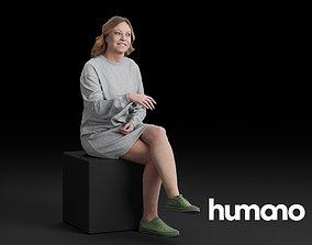 Humano Sitting woman 0603 3D