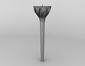 3D model Game Ready Fire Torch