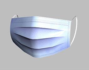 3D asset realtime Low-Poly Medical Face Mask