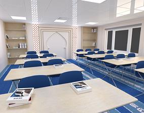 3D asset game-ready Islamic Classroom